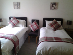 A twin room in the B&B